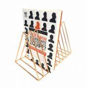 Porta Livros Aramado Rosê Gold