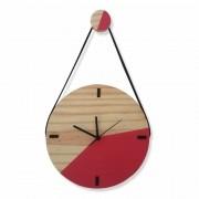 Relógio de Parede Decorativo Escandinavo Goiaba com Alça