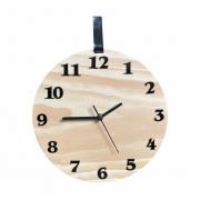 Relógio De Parede Decorativo Moderno Madeira Natural