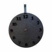 Relógio De Parede Decorativo Moderno Preto Full Black