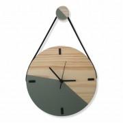 Relógio de Parede Escandinavo Cinza Concreto com Alça 28cm