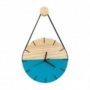 Relógio de Parede Minimalista Azul Tiffany com Alça