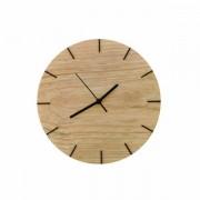 Relógio de Parede Minimalista em Madeira Natural 28cm