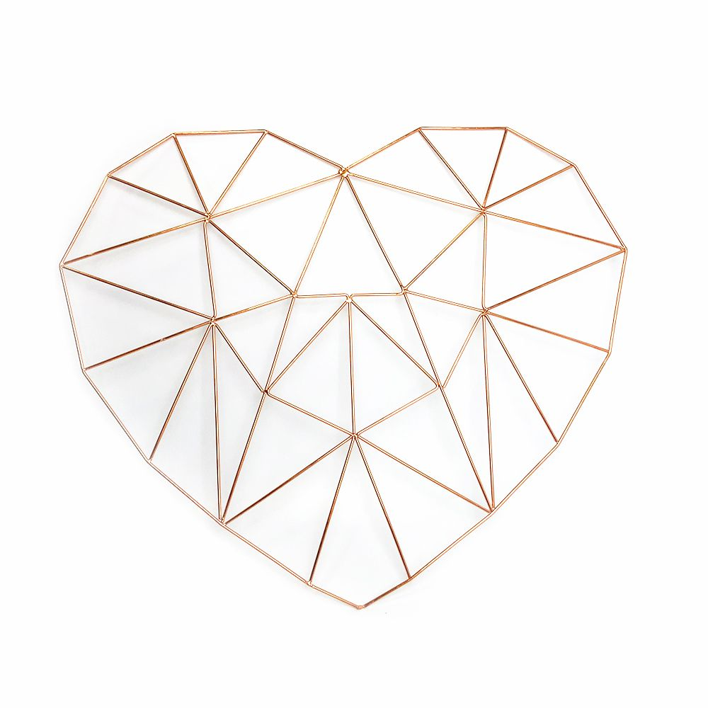 Aramado Memory Board Coração Rosê Gold