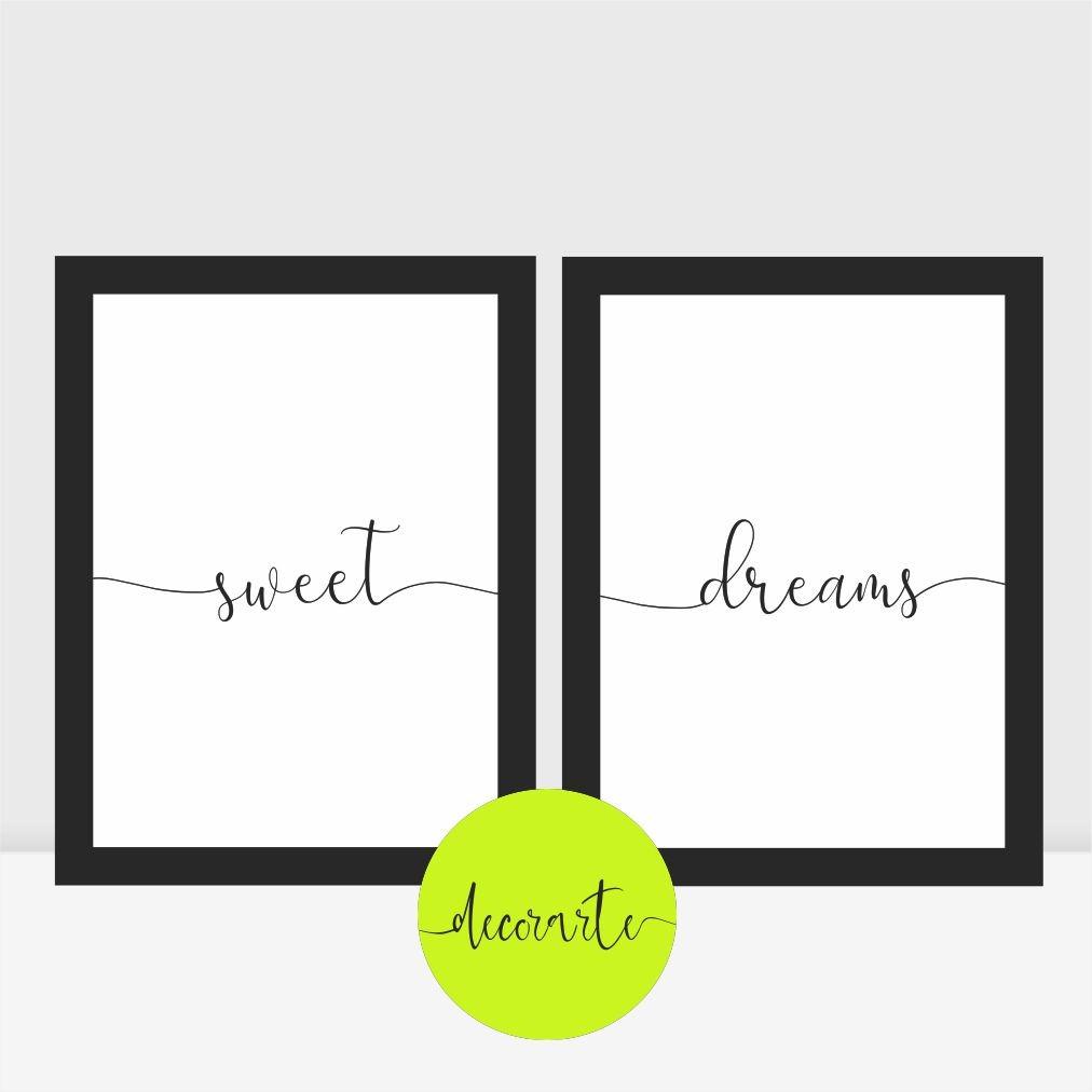 Duo Quadros para Quarto Casal - Sweet Dreams