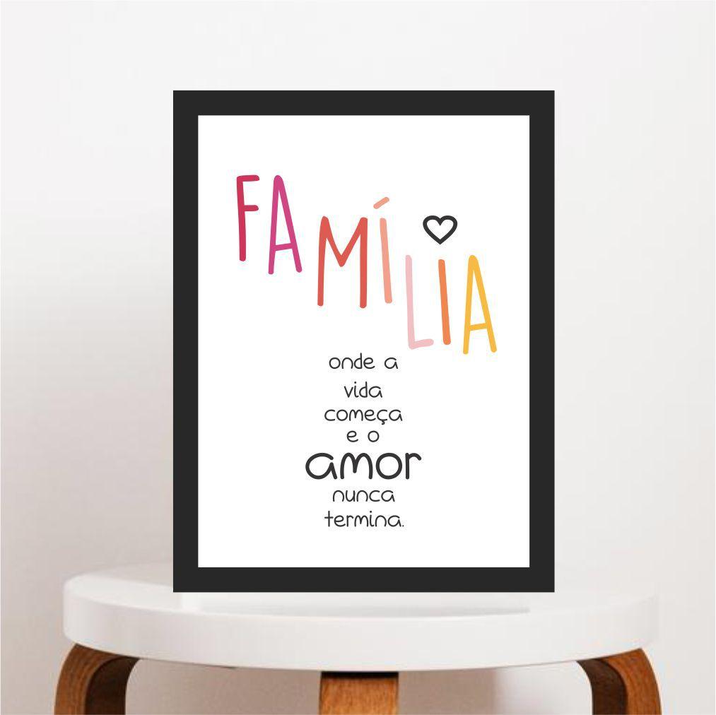 Família é Onde a Vida Começa e o Amor Nunca Termina
