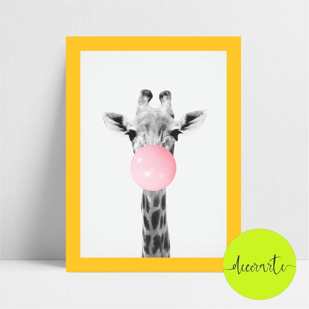 Girafa com Chiclete