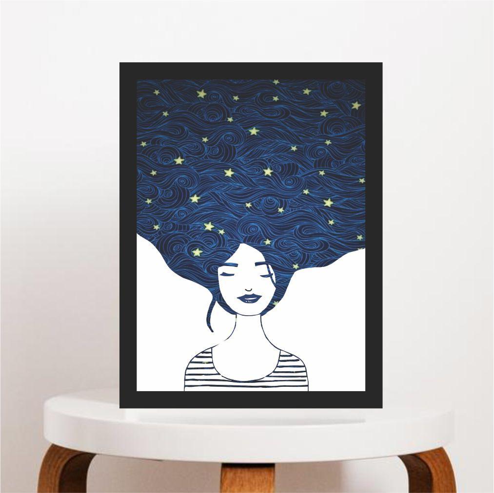 GIRL AND STARS