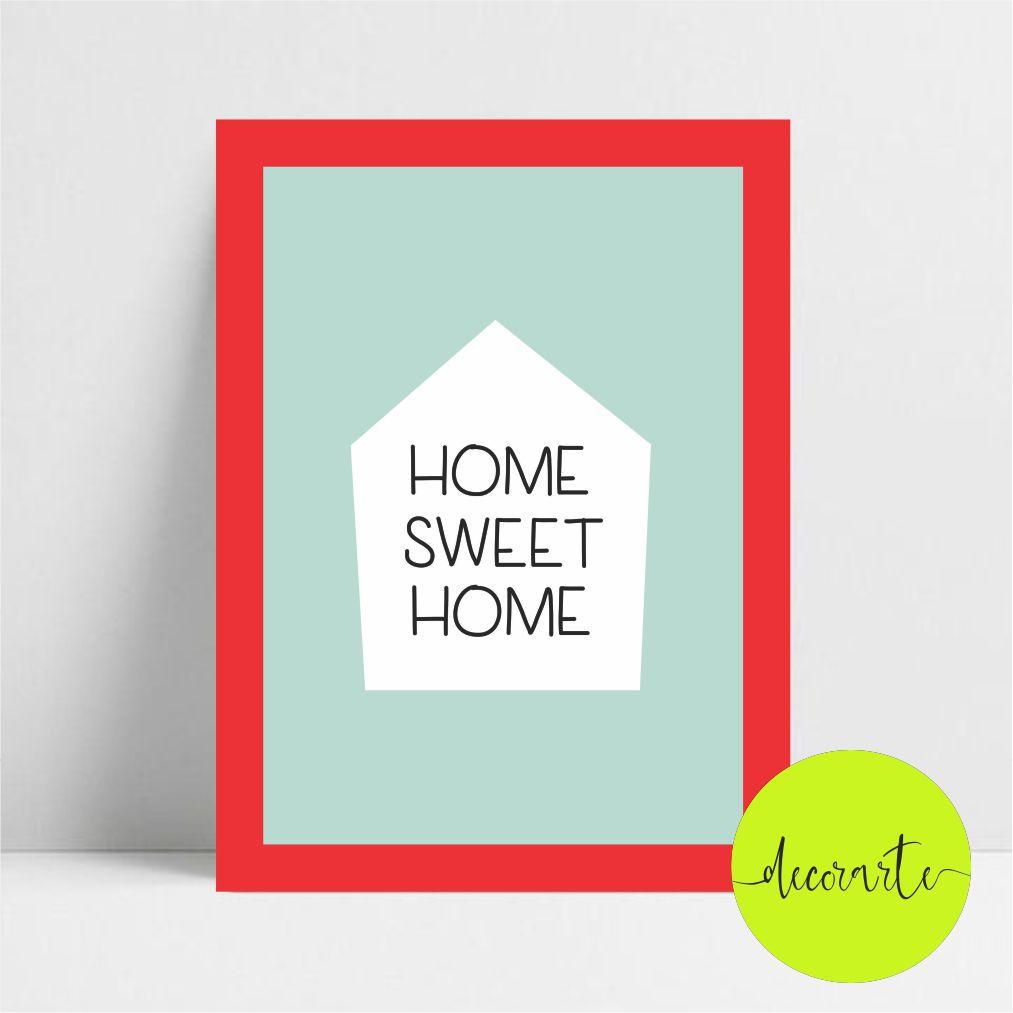 Home Sweet Home - Fundo Azul