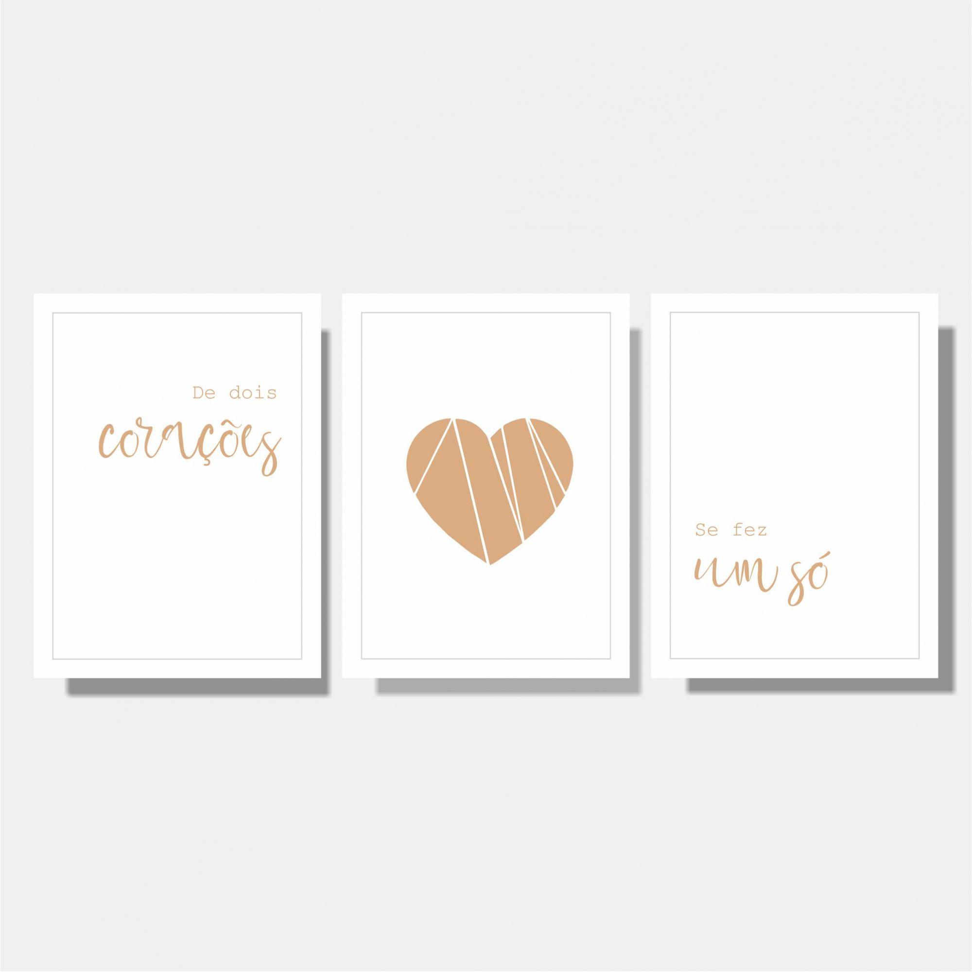 Kit Casal De Dois Corações / Coração / Se Fez Um Só