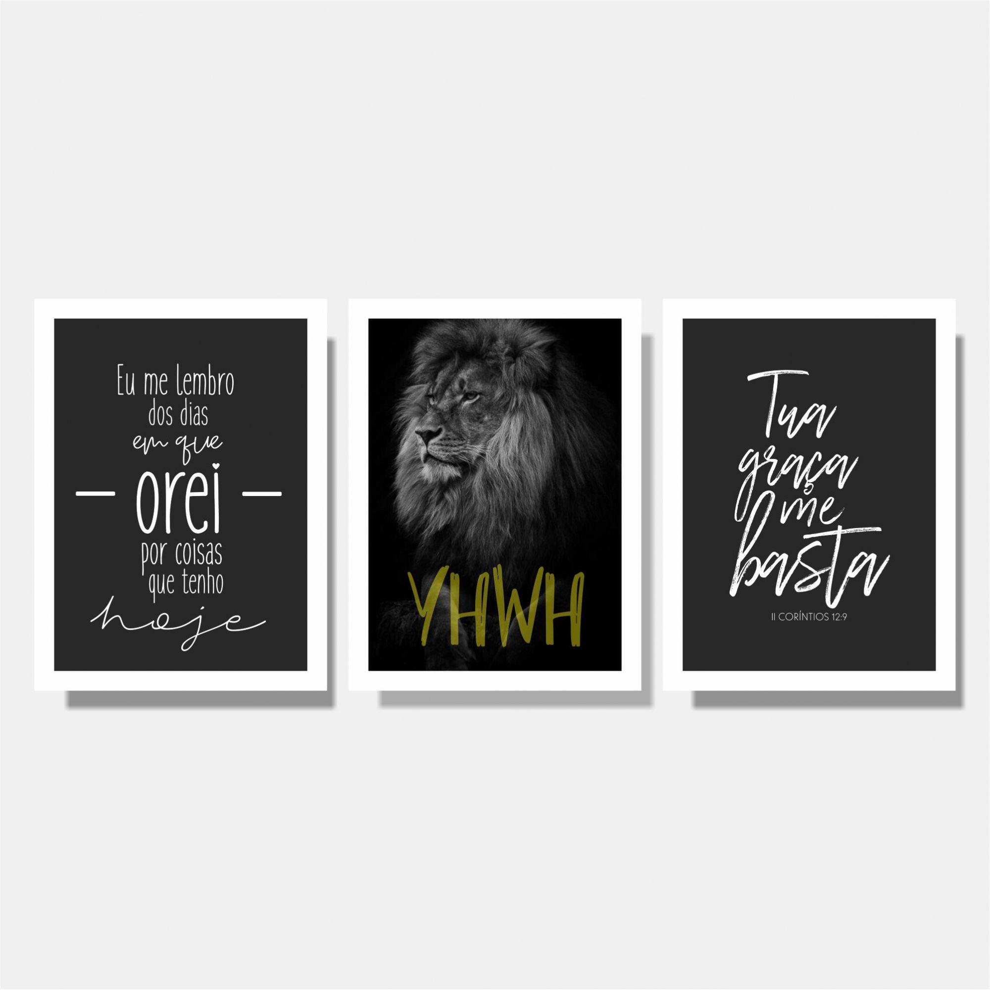 Kit Cristão Eu me Lembro + YHWH + Tua Graça me Basta