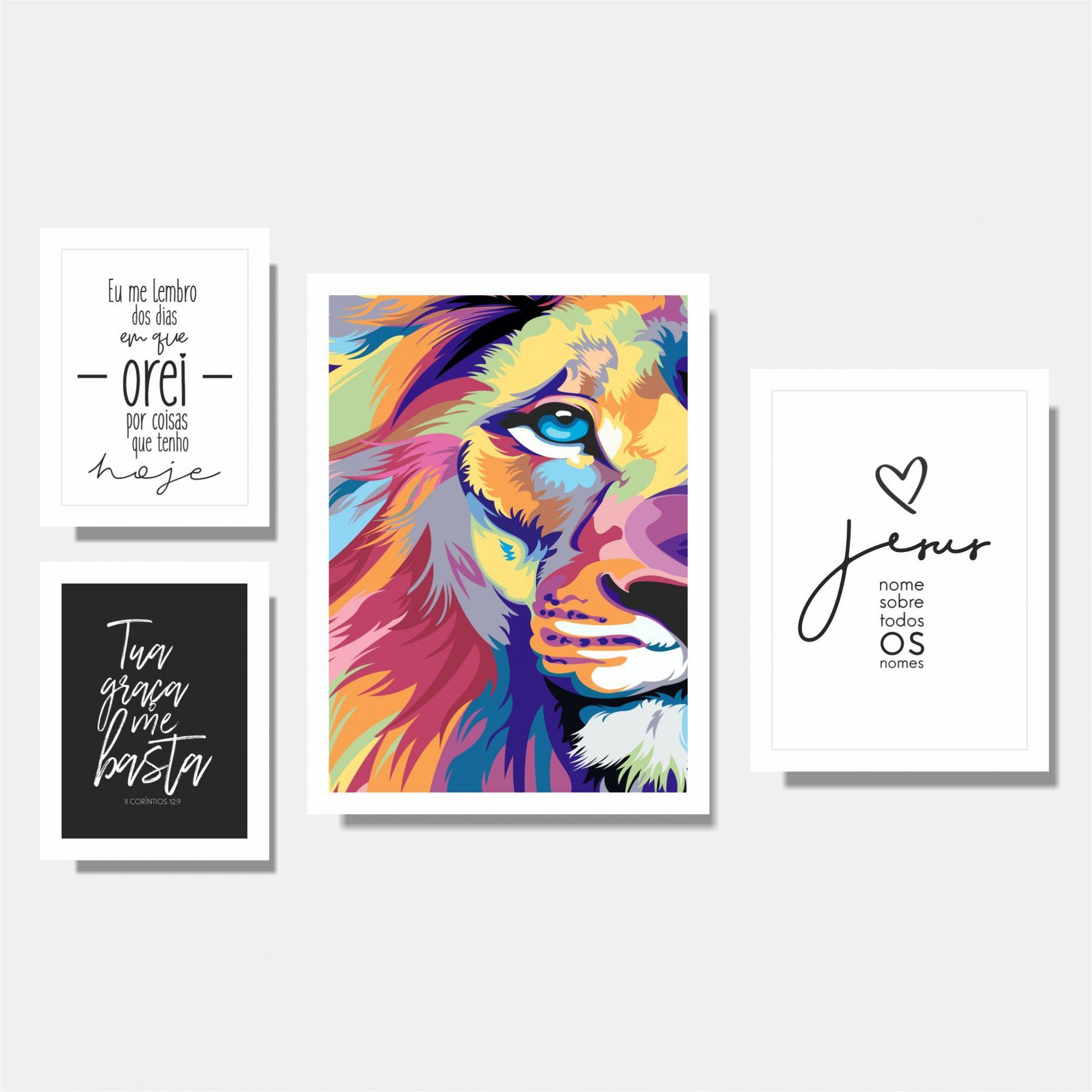 Kit Leão + Eu Me Lembro + Tua Graça  me Basta + Jesus