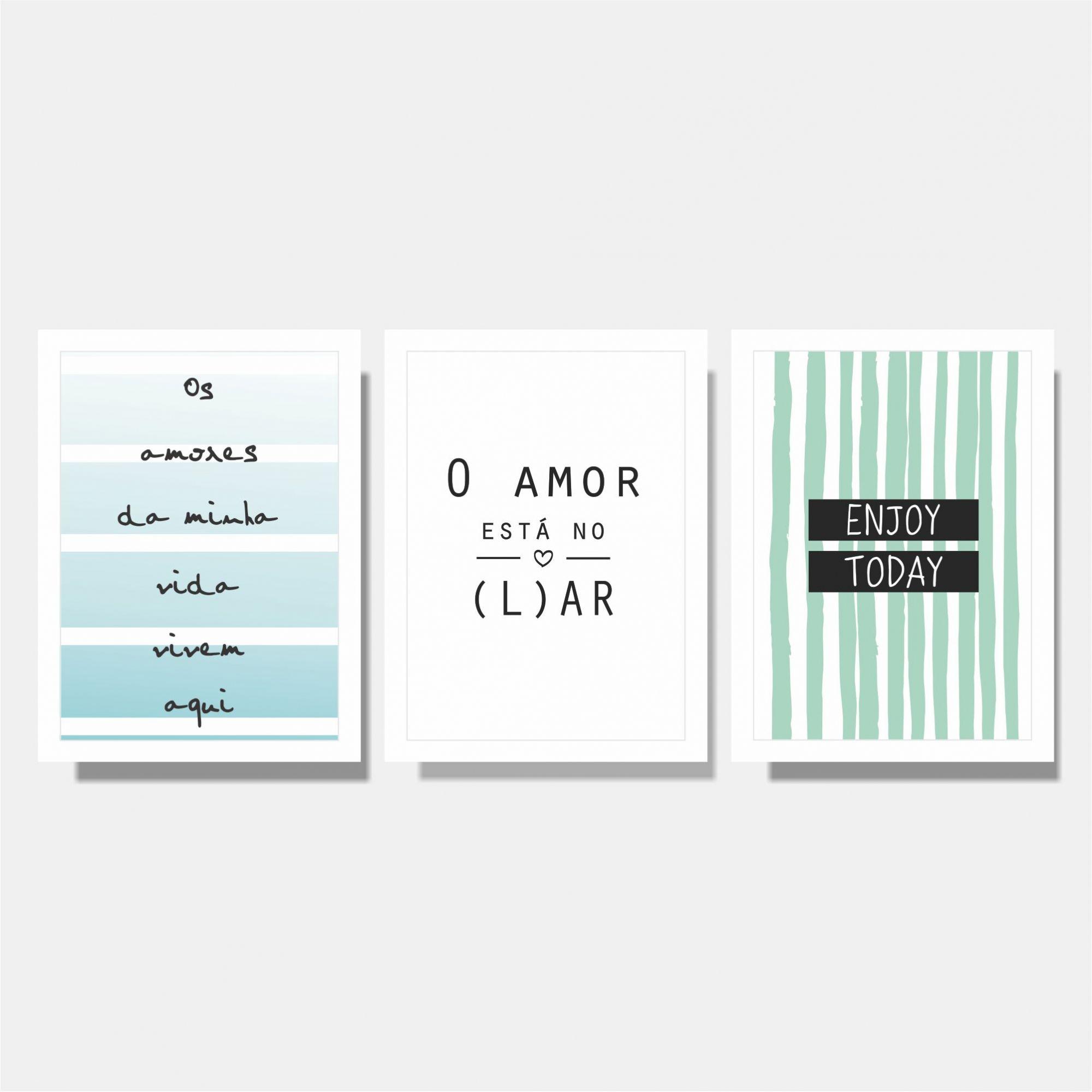 Kit O Amor Esta +  Os Amores da Minha Vida + Enjoy Today