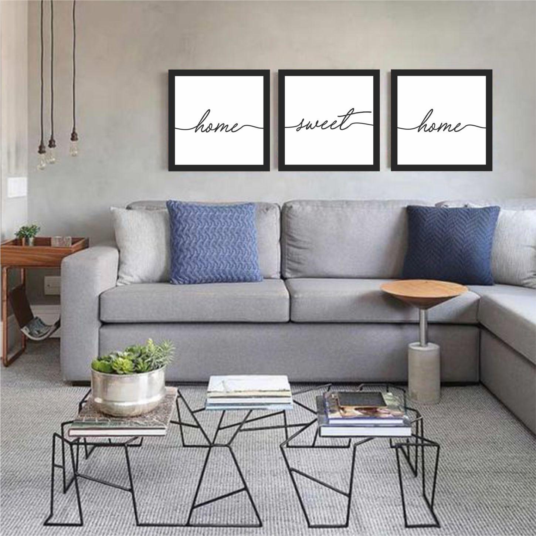 Kit Quadros Para Sala / Home Sweet Home