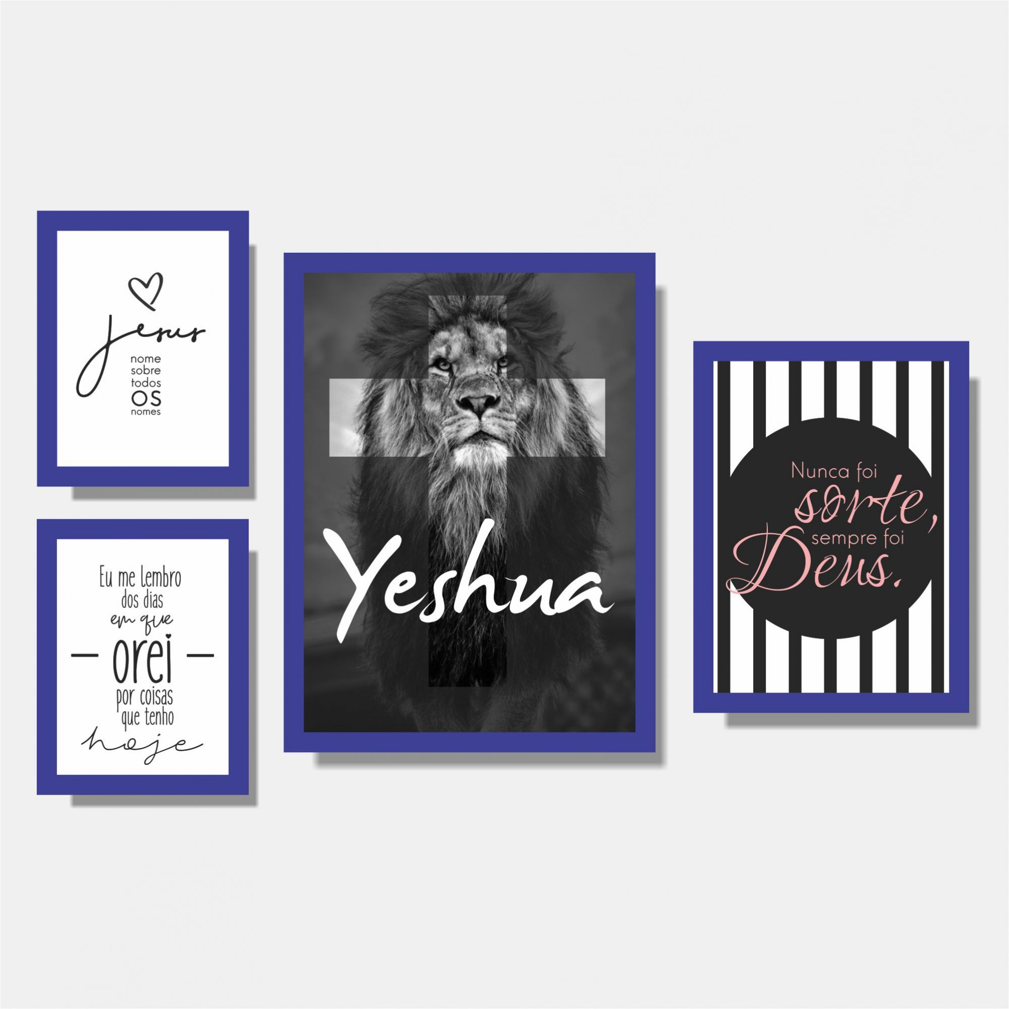 Kit Yeshua + Jesus + Nunca Foi Sorte + Eu me Lembro