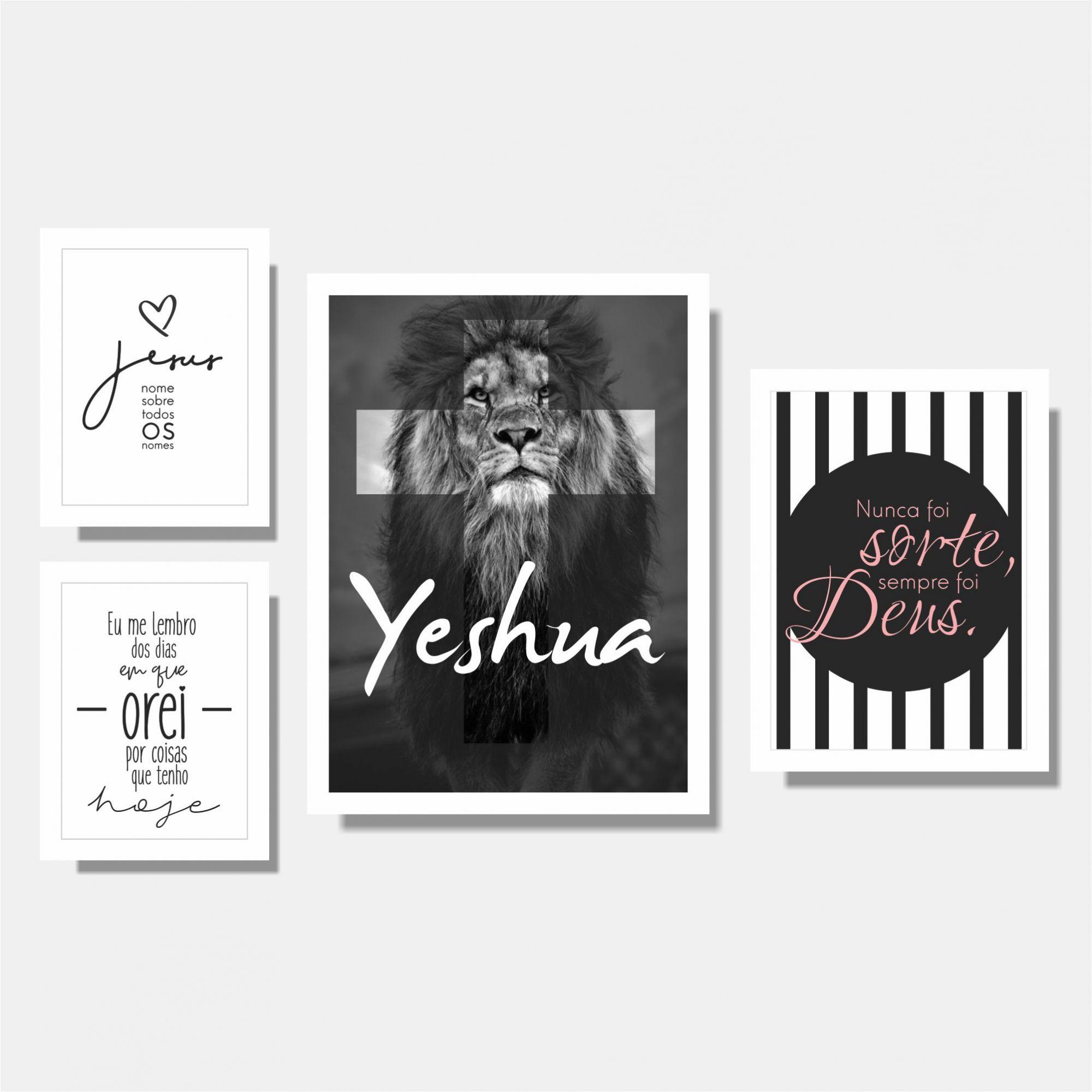 Kit Yeshua + Jesus + Nunca Foi Sorte + Eu me Lembro A2