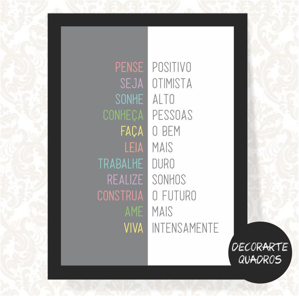 Pense Positivo, Seja Otimista, Sonhe Alto... Viva Intensamente.
