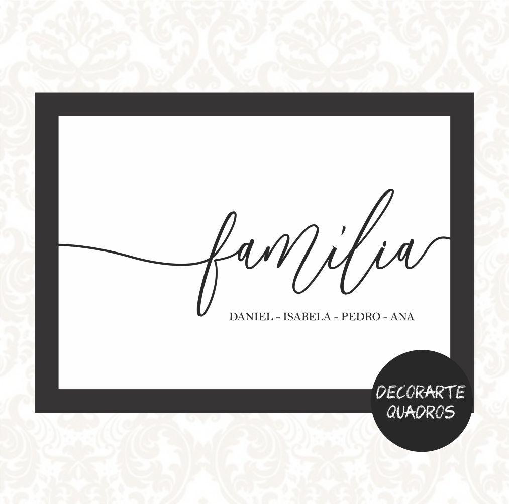 PERSONALIZADO FAMÍLIA - nomes