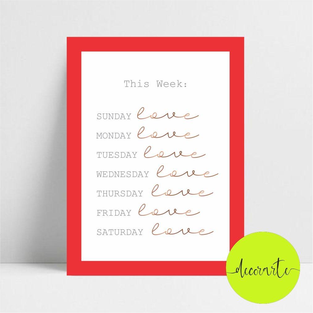 Quadro Decorativo THIS WEEK / Esta semana