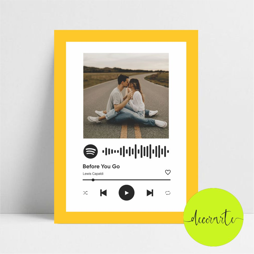 Quadro Personalizado Música Spotify