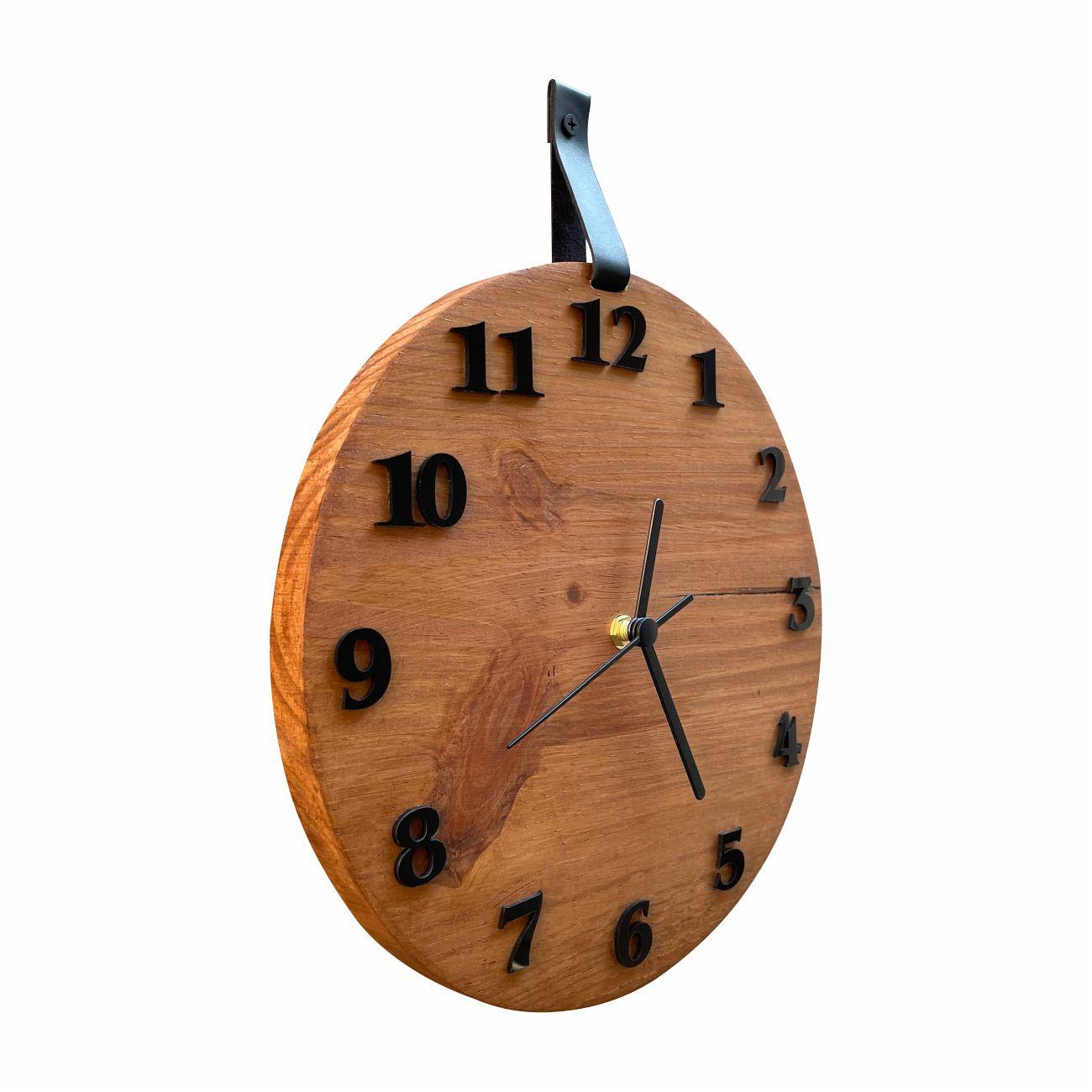 Relógio De Parede Decorativo Moderno Madeira Rústica