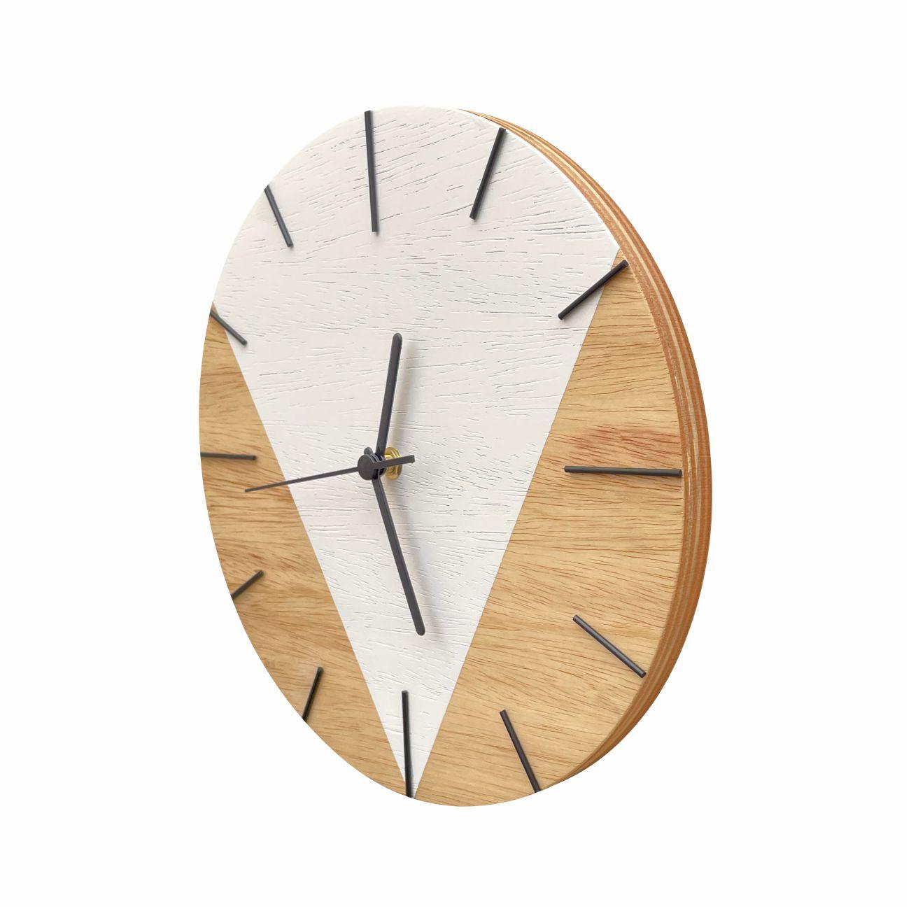 Relógio de Parede Design Triangular - 30cm Snow