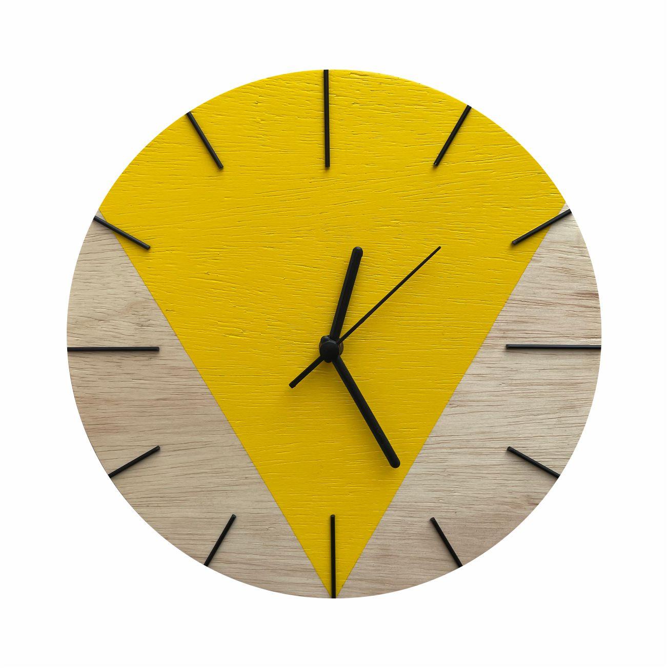 Relógio de Parede Design Triangular - 30cm Sunflower