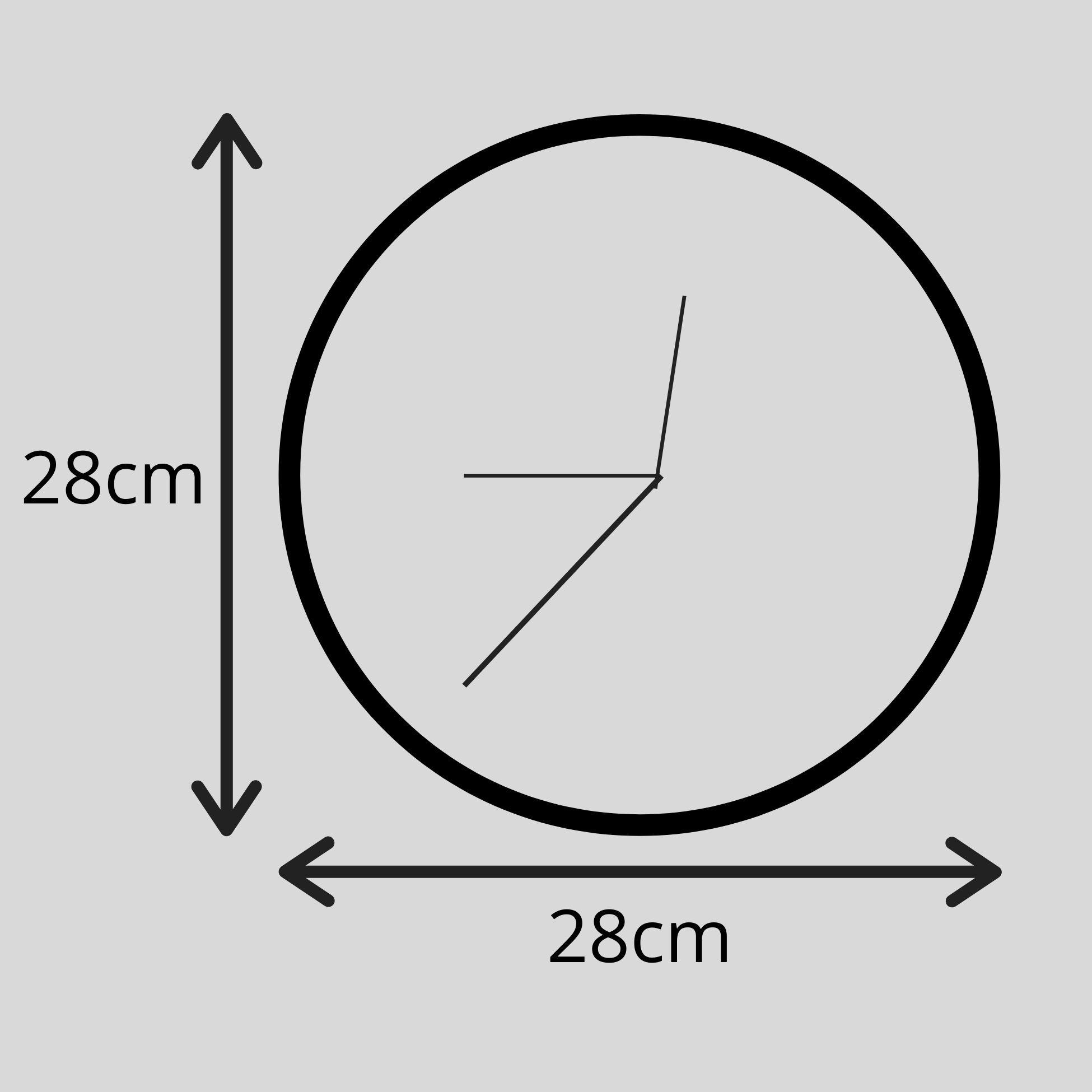Relógio de Parede Geométrico Branco e Verde Dólar 28cm