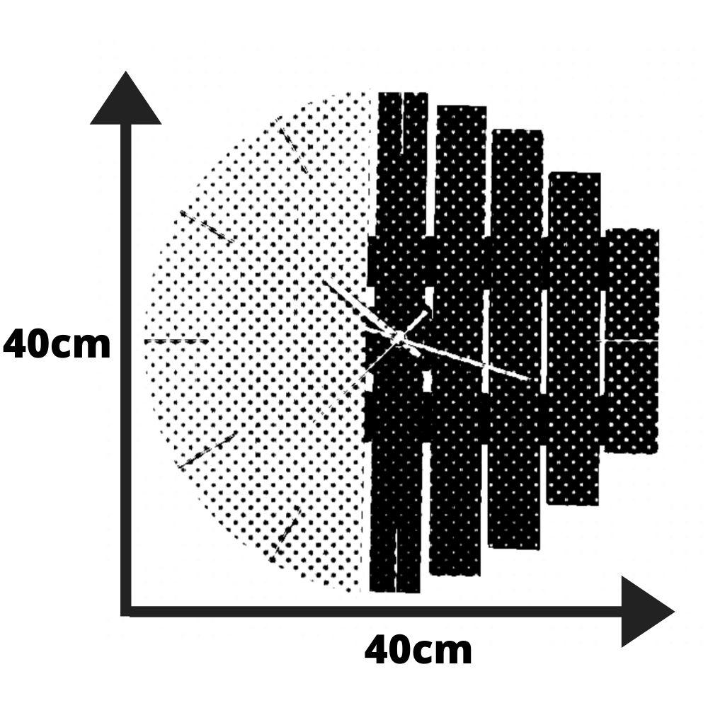 Relógio de Parede Industrial Madeira e Preto 40cm