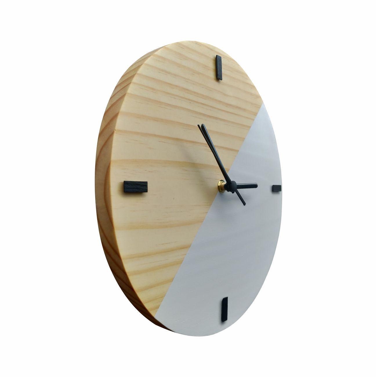 Relógio Escandinavo Duo Branco