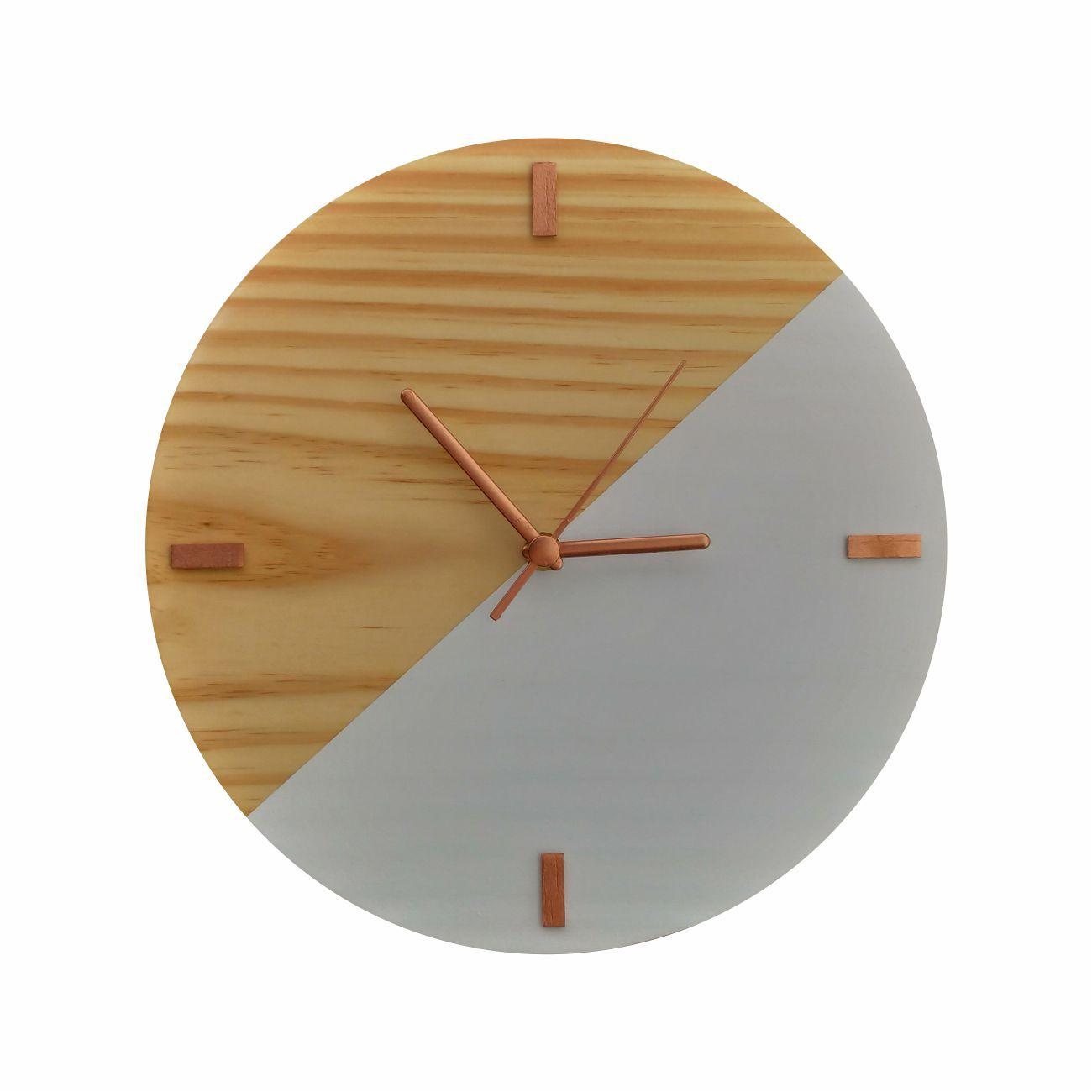 Relógio Escandinavo Duo Branco com Detalhes Rosê Gold