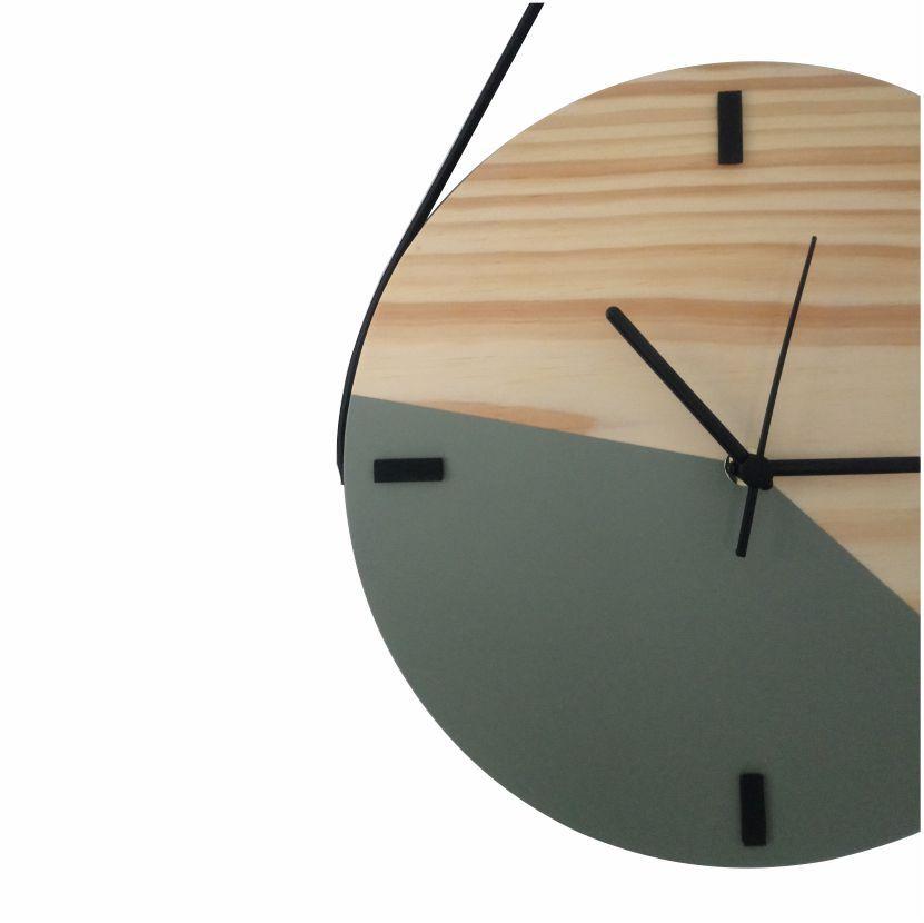 Relógio Escandinavo Duo - Cinza Concreto