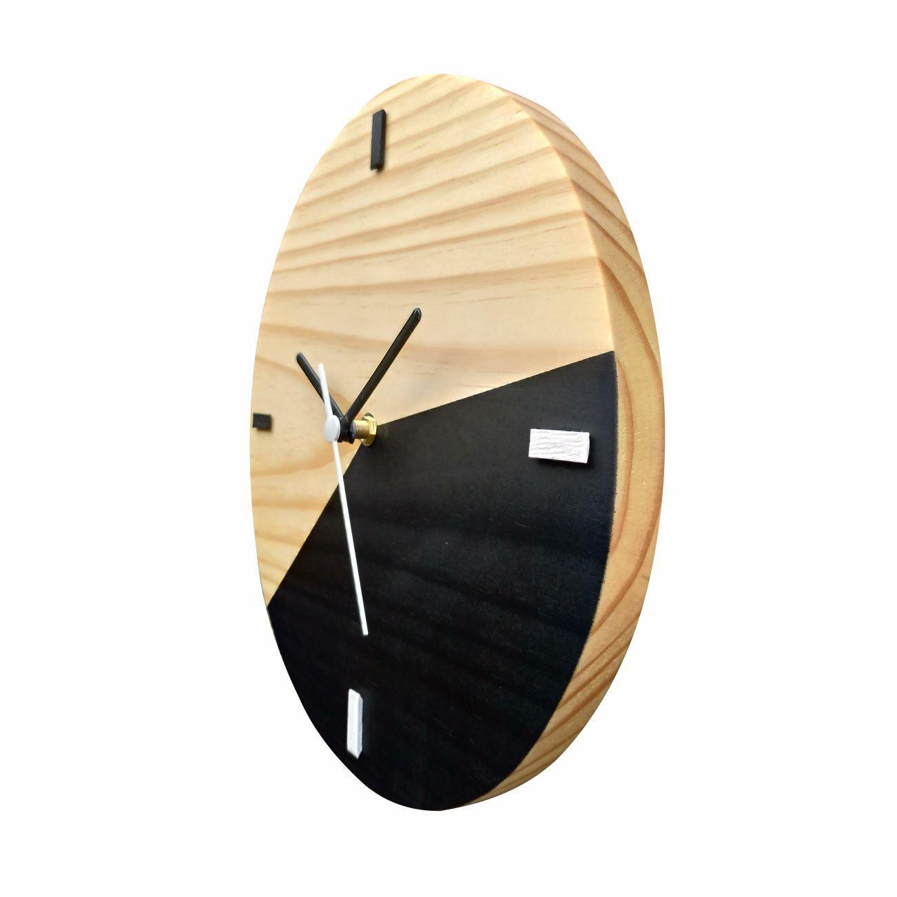 Relógio Escandinavo Duo Preto Fosco