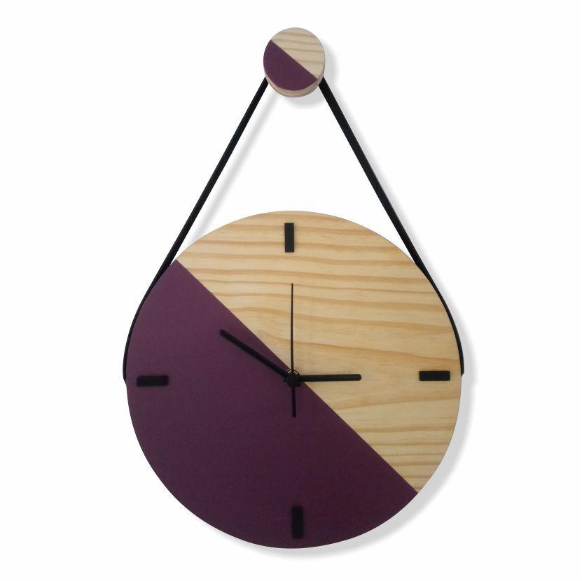 Relógio Escandinavo Duo - ROXO