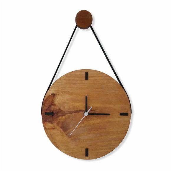 Relógio Escandinavo Rústico