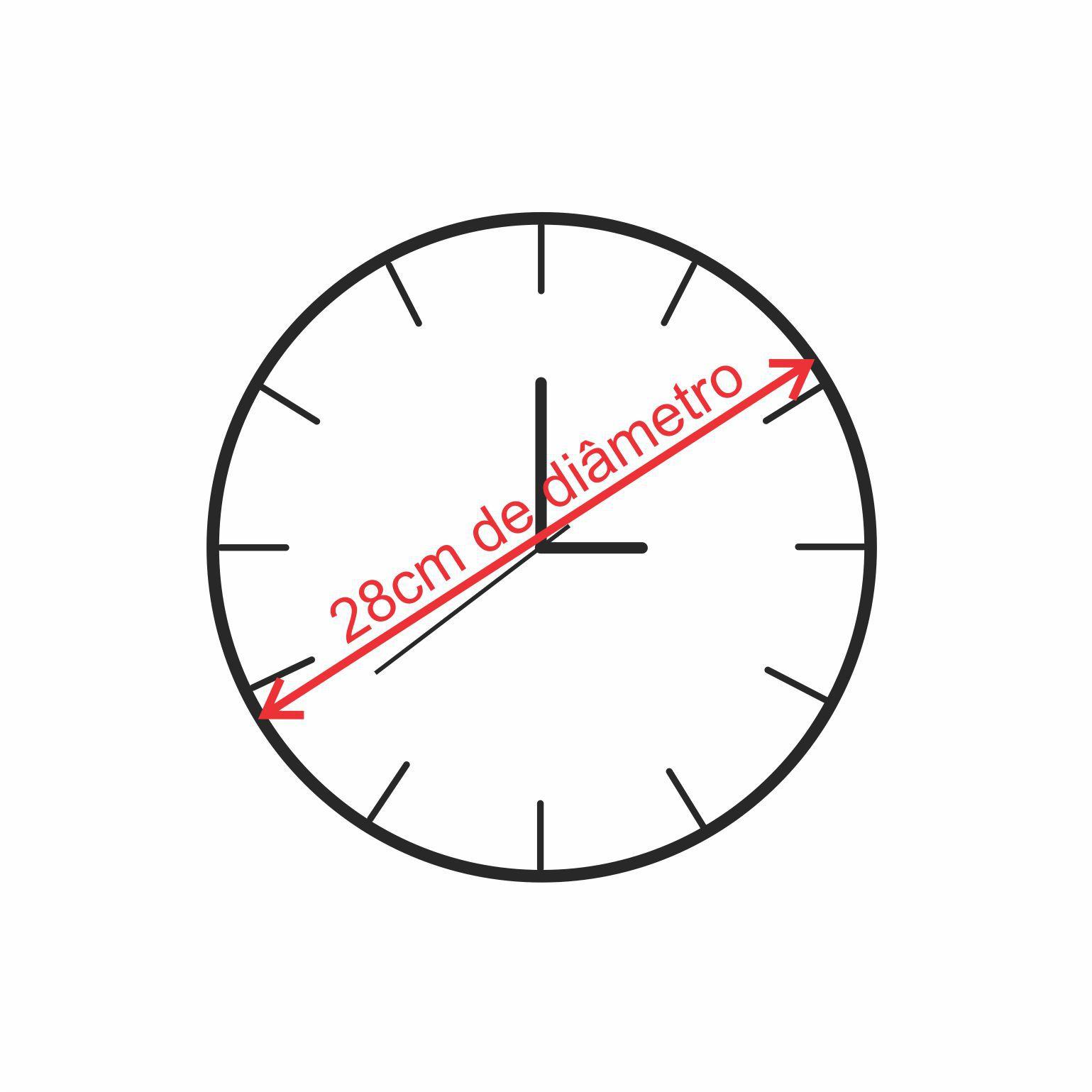 Relógio Minimalista Amarelo