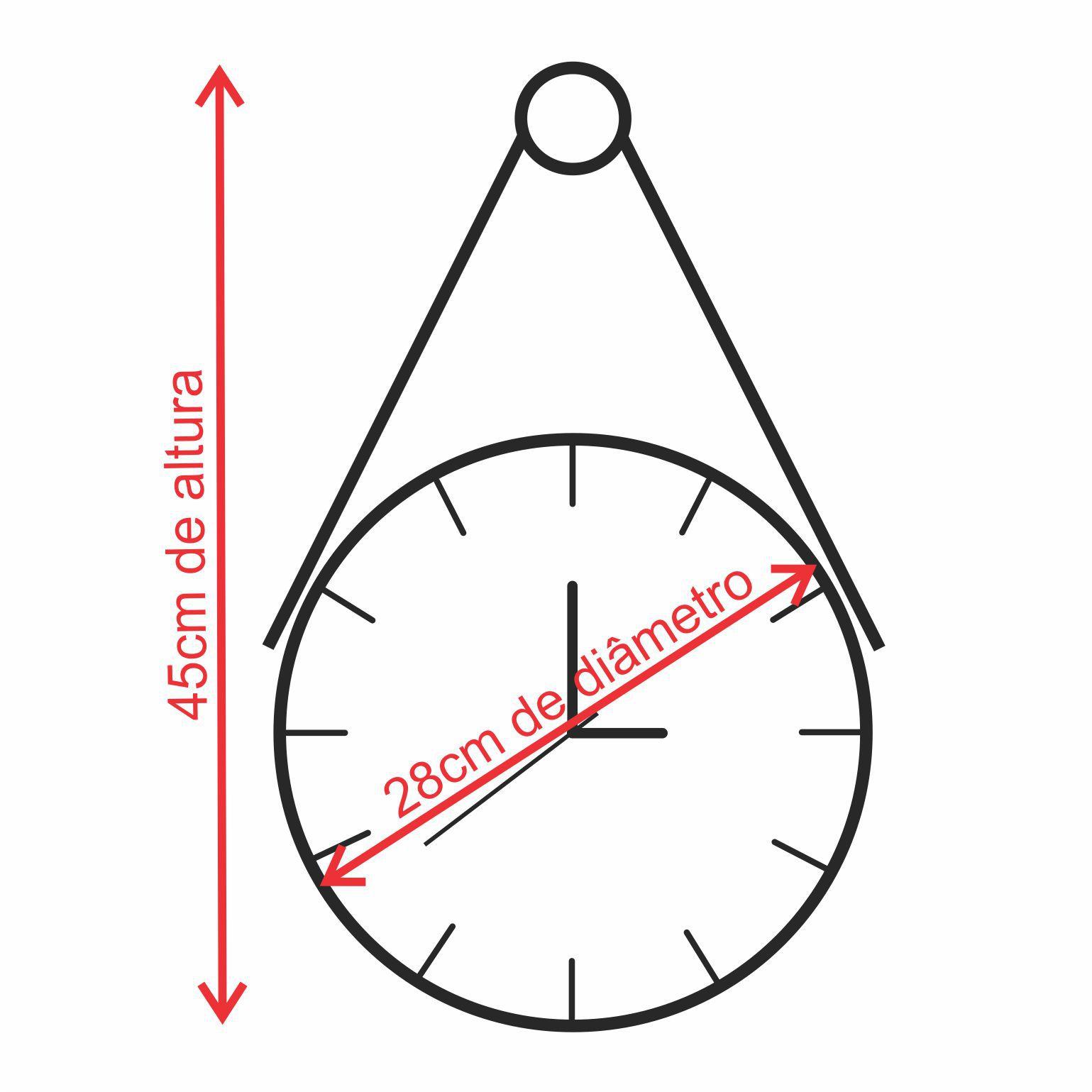 Relógio Minimalista de Madeira Branco com Alça