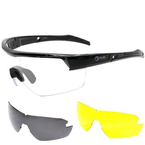 Óculos de Proteção Balística Preto AVB - T9096-BK