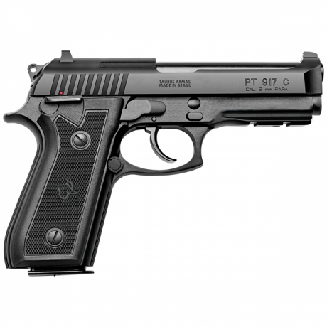 "Pistola Taurus PT 917C Cal 9mm 17+1 Tiros - Cano 4,3"" - Carbono Fosco"