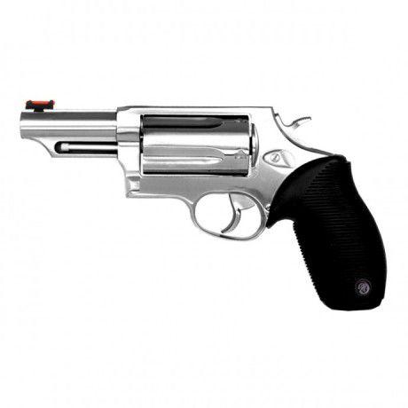 "Revolver Taurus RT410 The Judge 3"" Cal.36GA - Cabo de Borracha - 5 Tiros - Inox Alto Brilho"