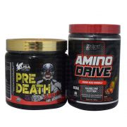 Amino Drive 200g Nutrex + Pre Death Hardcore 300g USA Supplement + Coqueteleira WDD