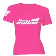Camiseta Baby Look Rosa (100% Poliéster) New Millen
