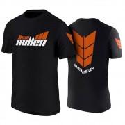 Camiseta Preta (100% Poliéster) New Millen