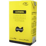 Kit 10 Unidades de Albumina Pasteurizada Resfriada 1kg Naturovos