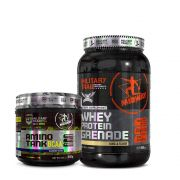Kit Amino Tank Bcaa 300g Military Trail + Whey Protein Grenade 900g Midway