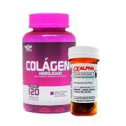 Kit Colágeno Hidrolisado 120caps  +  Cafeína Alpha Excell 30Caps