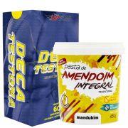 Kit Deca Testona 60caps Up Sports Nutrition + Pasta de Amendoim Integral 1,02kg Mandubim