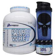 Kit Performance Puro Whey 2kg + Crea Pepto 150g + Coqueteleira WDD