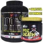 Kit Usa Supplement 100% Whey Definition 2Kg + Pre Death Hardcore 300g + Camiseta Pre Death de Brinde