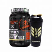 Kit Whey Protein Grenade 900g + Coqueteleira 600ml Military Trail GRÁTIS